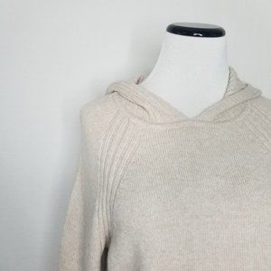 Isabel Maternity by Ingrid & Isabel Sweaters - Maternity Hoodie Pullover Sweater Oatmeal